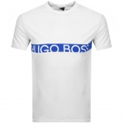 BOSS HUGO BOSS Slim Fit UV Logo T Shirt White